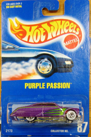 New 1991 Hot Wheels Purple Passion Purple and Green