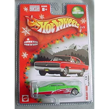 New 2004 Hot Wheels Holiday Rods Limited Edition Purple Passion Larry Wood