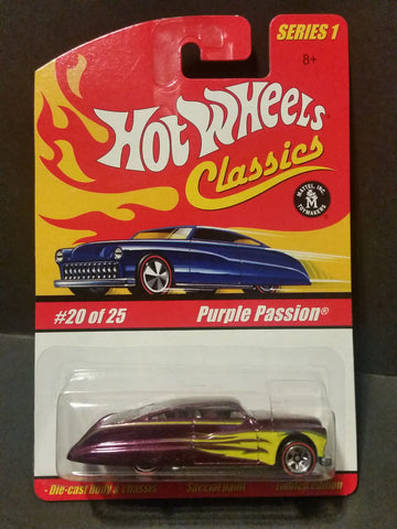 New 2004 Hot Wheels Purple Passion Hot Wheels Classics Series 1 Purple/Yellow