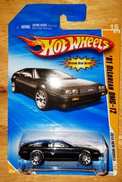 New 2009 Hot Wheels '81 Delorean DMC-12 2010 New Models 1981