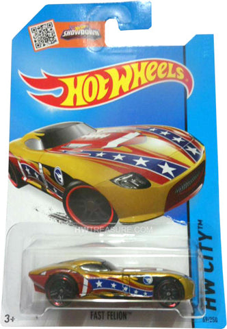 New 2015 Hot Wheels Fast Felion Treasure Hunt HW City 69-250