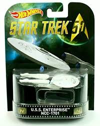 New 2015 Hot Wheels Star Trek U.S.S. Enterprise NCC-1701 Retro Entertainment