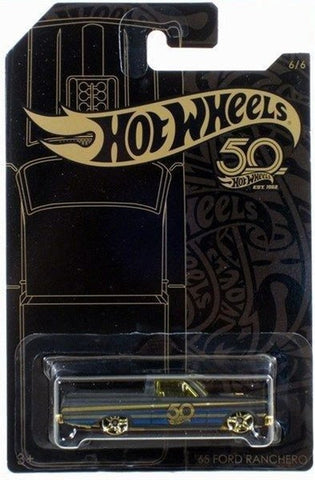 New 2018 Hot Wheels Black and Gold '65 Ford Ranchero