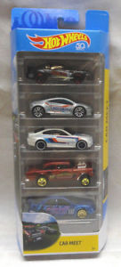 New 2018 Hot Wheels Car Meet 5 Pack Set with 55 Chevy Gasser