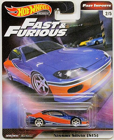 New 2018 Hot Wheels The Fast & The Furious Nissan Silvia Real Riders