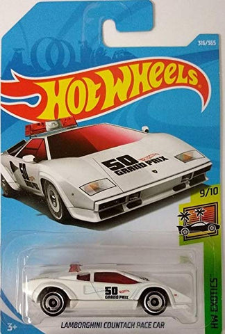 New 2018 Hot Wheels Lamborghini Countach Pace Car HW Exotics