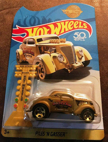 New 2018 Hot Wheels Pass 'N Gasser Gold Limited Edition