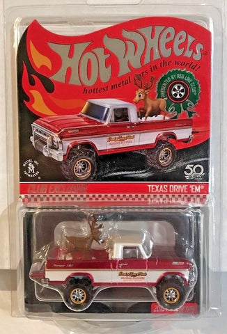 New 2018 Hot Wheels Texas Drive 'Em Holiday Edition Red Line Club