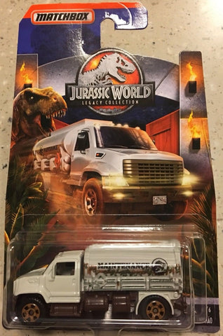 New 2018 Matchbox Jurassic World MBX Tanker Legacy Collection Maintenance