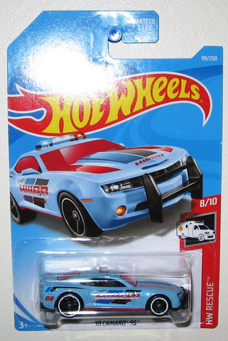 New 2019 Hot Wheels '10 Camaro SS Police Car HW Rescue Blue