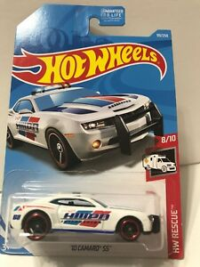 New 2019 Hot Wheels '10 Camaro SS Police Car HW Rescue White