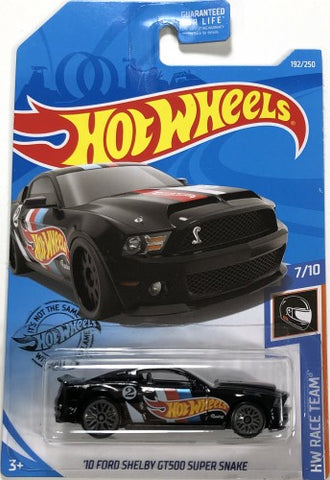 New 2019 Hot Wheels '10 Ford Shelby GT500 Super Snake HW Race Team