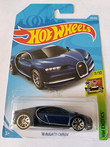 New 2019 Hot Wheels '16 Bugatti Chiron HW Exotics