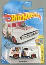 New 2019 Hot Wheels '56 Ford F-100 HW Art Cars Queen of Hearts