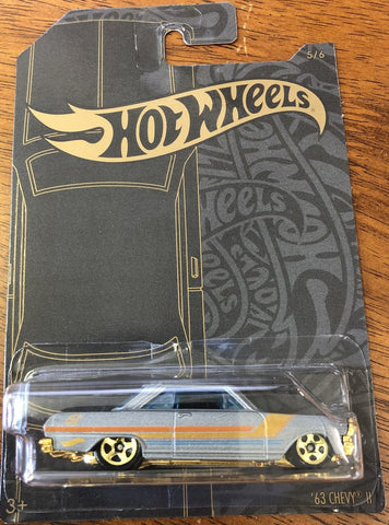 New 2019 Hot Wheels '63 Chevy II Satin and Chrome