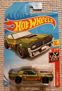 New 2019 Hot Wheels '68 Mercury Cougar Super Treasure Hunt Car HW Flames