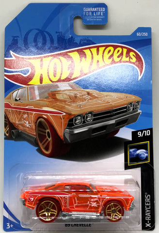New 2019 Hot Wheels '69 Chevelle 9-10 X-Racers 60-250 Treasure Hunt Car 1969