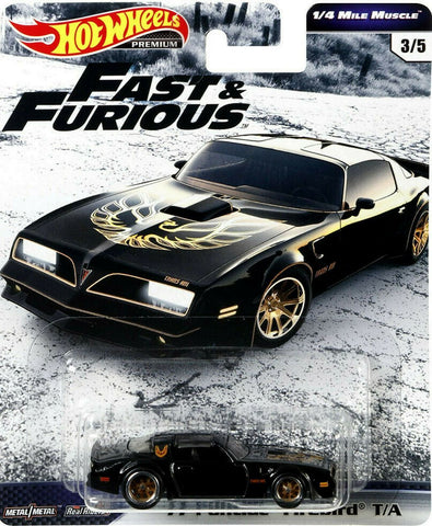 New 2019 Hot Wheels '77 Pontiac Firebird T/A The Fast & The Furious Premium Real Riders