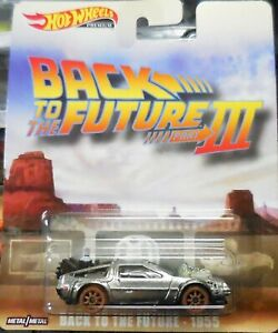 New 2019 Hot Wheels Back to the Future III 1955 Delorean Retro Entertainment Car