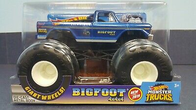 New 2019 Hot Wheels Bigfoot Monster Jam Die Cast Monster Truck 4x4x4 Mason City Poster Company