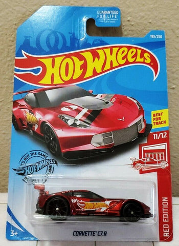 New 2019 Hot Wheels Corvette C7.R Red Edition Spectraflame Variation Error