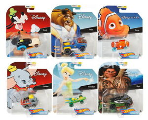 New 2019 Hot Wheels Disney Character Cars Series 3 Set of 6 Cars Pixar