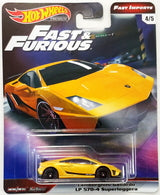 New 2019 Hot Wheels Lamborghini Gallardo LP 570-4 Superleggera The Fast & The Furious Premium 4-5 Fast Imports Real Riders Metal on Metal