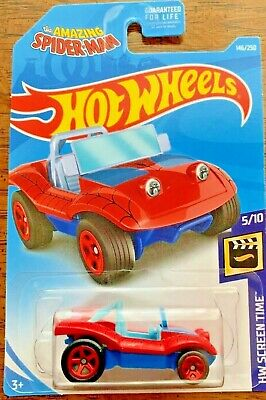 New 2019 Hot Wheels Spider Mobile HW Screen Time The Amazing Spider-Man Movie Car