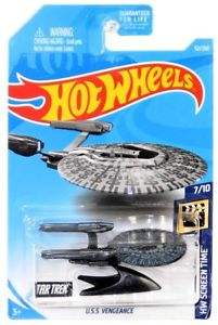 New 2019 Hot Wheels Star Trek U.S.S. Vengeance 7-10 Screen Time 52-250 Car Movie and TV Show Car