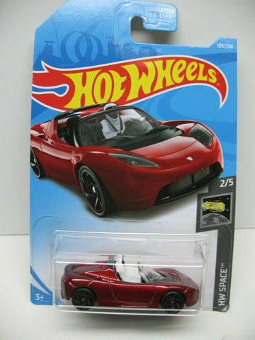 New 2019 Hot Wheels Tesla Roadster With Starman HW Space Car