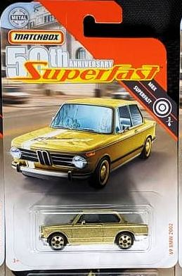 New 2019 Matchbox '69 BMW 2002 Gold  50th Anniversary Superfast Car