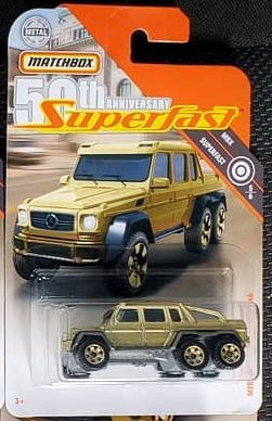 New 2019 Matchbox Mercedes-Benz G63 Amg 6x6 Gold  50th Anniversary Superfast Truck