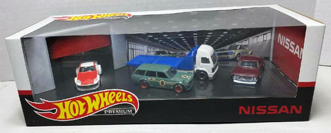 New 2020 Hot Wheels Nissan Premium Display Garage Set