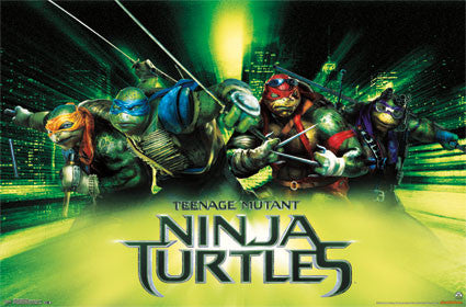 Ninja Turtles - Green Movie Poster RP9855 TMNT UPC017681098554 Teenage Mutant