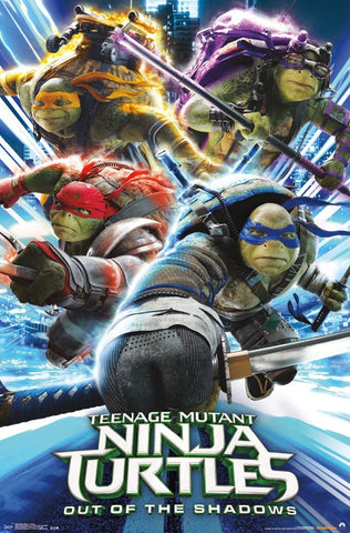 Ninja Turtles 2 - Attack Movie Poster 22x34 RP14230 UPC882663042302 TMNT