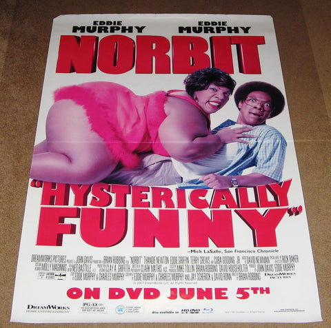 Norbit Movie Poster 27x40 Used Eddie Murphy, Lester Speight, Susan Beaubian, Floyd Levine, Anastacia, David Goldsmith, Clifton Powell, Eddie Griffin, Khamani Griffin, Alex Brown, Jeanette Miller