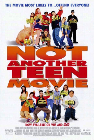 Not Another Teen Movie, Movie Poster 27x40 Used Paul Thomas, Sean Smith, Benji Madden, Paul Goebel, Sean Patrick Thomas, Oz Perkins, Samaire Armstrong, Michael Ensign, Sam Ayers, Will Gill Jr, Molly Ringwald, Nick Bakay