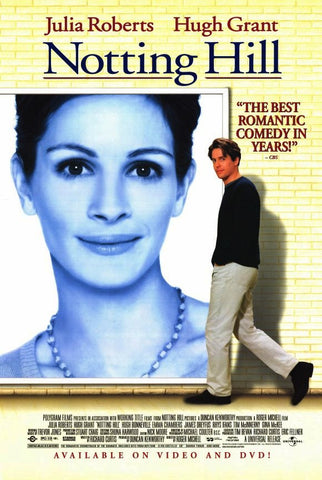 Notting Hill Movie Poster 27x40 Used Dorian Lough, Ann Beach, Rhys Ifans, Dylan Moran, Sally Phillips, Tony Armatrading, Lorelei King, Gina McKee, Simon Callow, Clarke Peters, Mischa Barton, Julia Roberts, Alec Baldwin
