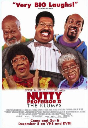 Nutty Professor 2 The Klumps Movie Poster 27x40 Used George King, Wanda Sykes, Chris Elliott, Andrea C Robinson, Harry S Murphy, Richard Gant, Anna Maria Horsford, Melinda McGraw, Earl Boen, David Banks, Diva, Richard Saxton, Eddie Murphy