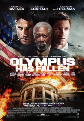 Olympus Has Fallen 27x40 Movie Poster Used Rare 2013 Morgan Freeman