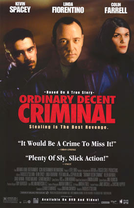 Ordinary Decent Criminal Movie Poster 27x40 Used Kevin Spacey, Conor Mullen, Bill Murphy, Colin Farrell, Paul Roe, Brendan Morrissey, Jer O'Leary, Paul Ronan, David Hayman, Alan Devlin, Barry Barnes, David Kelly