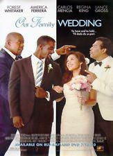 Our Family Wedding Movie Poster 27x40 Used Hayley Marie Norman, Forest Whitaker, Diana Maria Riva, Castulo Guerra, Mimi Michaels, James Lesure, Noel Gugliemi, Charles Q Murphy, Taye Diggs, Ella Joyce, Shannyn