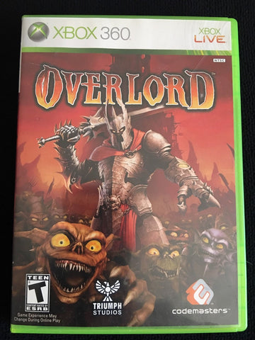 OVERLORD Microsoft XBOX 360 COMPLETE (2007) Video Game UPC 767649401529