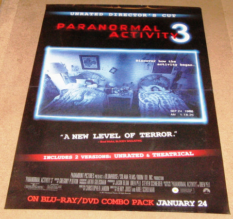 Paranormal Activity 3 Unrated Director's Cut 27x40  Used Katie Featherston