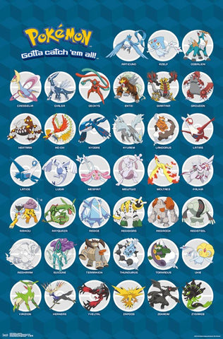 Pokemon - Legendary wall Poster 22x34 RP14865 UPC882663048656