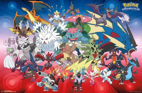 Pokemon - Mega Evolutions Wall Poster 22x34 RP14863 UPC882663048632