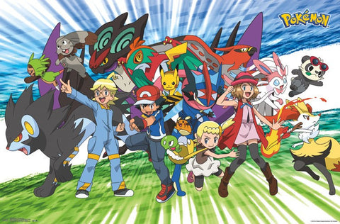 Pokemon - Traveling Party Wall Poster 22x34 RP14864 UPC882663048649
