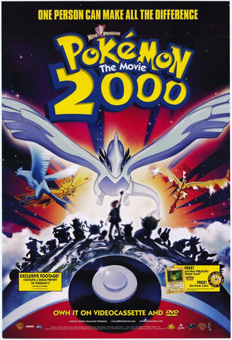 Pokemon The Movie 2000 Movie Poster 27x40 Used