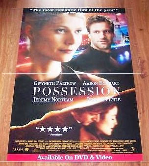 Possession Movie Poster 27x40 Used Meg Wynn Owen, Graham Crowden, Jeanne Marine, Jeremy Northam, Shelley Conn, Holly Aird, Toby Stephens, Trevor Eve, Gwyneth Paltrow, Holly Earl, Hugh Simon
