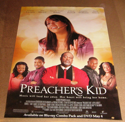 Preacher's Kid Movie Poster 27x40 Used Cesar Aguirre, Dawnn Lewis, Lynn McArthur, Shawn Knowles, MV Oliphant, Jerome Ro Brooks, Letoya Luckett, Essence Atkins, Anthony Singleton, Rae'Ven Larrymore Kelly